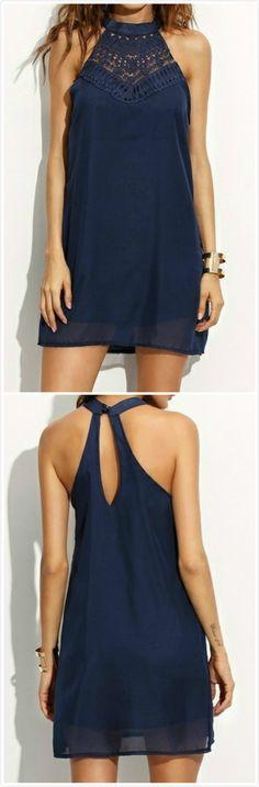 Halter off Shoulder Sleeveless Solid Chiffon Dress