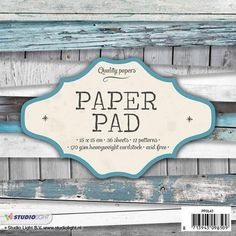 Studio Light Paper Pad 6x6 www.papercrafts.ch