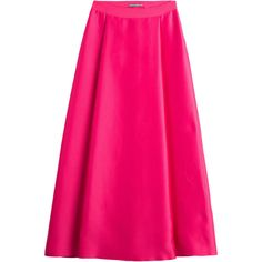 Alberta Ferretti Silk-Blend Maxi-Skirt ($350) ❤ liked on Polyvore featuring skirts, magenta, ankle length skirt, long pink maxi skirt, long a line skirt, tie-dye skirt and maxi skirt