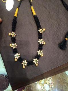 black dori necklace floral