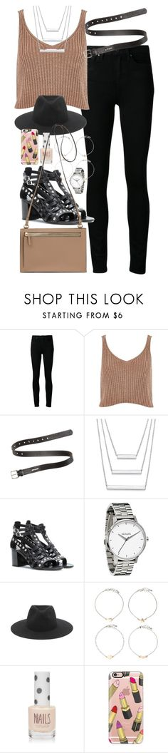 """Untitled #168"" by simonakolevaa ❤ liked on Polyvore featuring Paige Denim, River Island, Acne Studios, Yves Saint Laurent, Topshop, rag & bone, Forever 21 and Casetify"