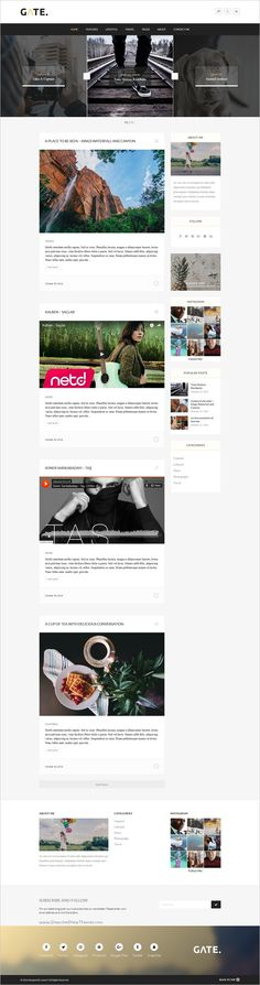 Gate is a responsive #WordPress #blog theme for #sharing their stories, trips and lifestyles in stunning website with Ajax loader for blog post pagination download now➩ https://themeforest.net/item/gate-a-responsive-wordpress-blog-theme/18710568?ref=Datasata