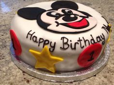 Mickey Mouse for a 1st birthday #mickeymouse