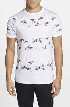 Men's French Connection 'Narcissus' Stripe Slim Cut Crewneck T-Shirt