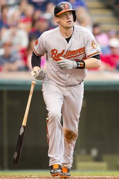 Matt Wieters #32 of the Baltimore Orioles hits a two run home run during the ninth inning against the Cleveland Indians at Progressive Field on September 2, 2013 in Cleveland, Ohio. (Photo by Jason Miller/Getty Images)