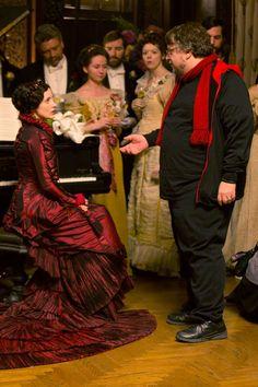 guillermo del toro and jessica chastain behind the scenes | Crimson Peak in theaters 10.16.15