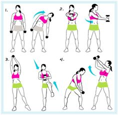 Standing abs...I did these. Not too sore, but I do feel it a bit. Used a 15lb kettle bell for weight. Jen K