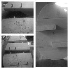 Paasei gemaakt van resten steigerhout. Het ei is 40cm hoog en 30cm breed!