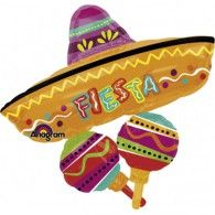 It's not a fiesta without a sombrero! Put one over everybody's heads with our Fiesta Sombrero Balloon, a large Mexican-style hat with two maracas attached. Fiesta Party Decorations, Fiesta Theme Party, Taco Party, Pinata Party, Balloon Party, Helium Filled Balloons, Mylar Balloons, Party Supply Store, Party Stores