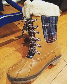 A touch of plaid!  London Fog boot- $54 plus 20% off  #madisonsbluebrick #downtownhotsprings #londonfogboot #madforplaid #boots #sale #christmasshopping