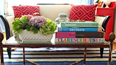 coffee table styling: The Little Black Door