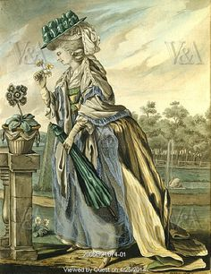 April, by Robert Dighton. England, late 18th century