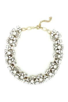 Eye Candy Los Angeles | White Cluster Necklace | HauteLook