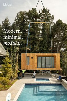 Our goal is to inspire independent minimal living. We make simple and sustainable prefab units that offer unique solutions for those looking to expand their property's potential. Shed To Tiny House, Tiny House Living, Backyard Pool Designs, Backyard Patio, Prefab Homes, Modular Homes, Bungalow, Tiny House Community, Pool Houses