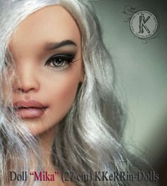 Make-up Wig for doll Mika 27cm resin.