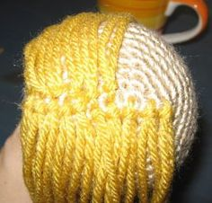 How to add hair to your amigurumi - just a good for ponies, zebras, etc!