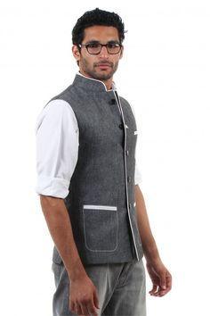Hip khadi half sleeve kurta with jacket - Google Search