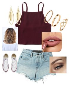 """""""Untitled #6"""" by sallozsofi ❤ liked on Polyvore featuring Aéropostale, T By Alexander Wang, Converse, H&M and Fragments"""