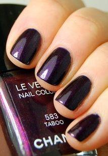 Chanel Taboo nails - fall/winter nail colors - polish - swatch