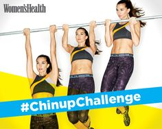 Yes, You Can! Chinup Plan 4 excercises to help you learn to do a chinup! 1: step onto a box to help you reach the bar, jump up and hang there with your head above the bar for 5 secs and work your way to 15, 20, 25, then 30! 2: pull yourself up to a low bar (body extended straight on the ground) without arching your back 3: repeat 1, but instead of holding yourself up, slowly lower yourself down in 6 secs. 4: get a resistance band, loop it around the bar, place your knee in it and do a pull…