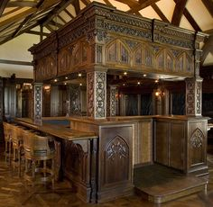 Gothic Bar In bid process file not offered BAR685 : Custom Doors Gates Furniture Pool Tables Medieval home decor Medieval bedroom Gothic living rooms