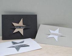 Hand made Xmas cards Diy Christmas Cards, Xmas Cards, Christmas Time, Christmas Crafts, Christmas Stars, Simple Christmas, Paper Cards, Diy Cards, Navidad Diy