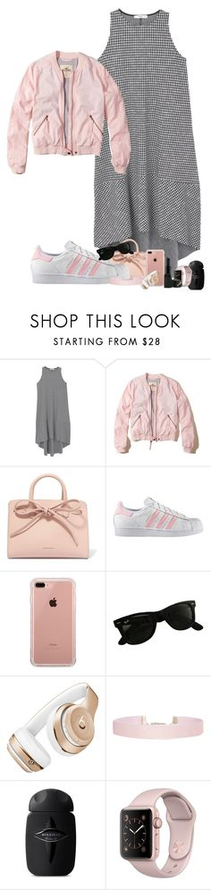 """""""but you don't judge me, 'cause if you did, baby, I would judge you too."""" by thatonelakyn ❤ liked on Polyvore featuring MANGO, Hollister Co., Mansur Gavriel, adidas, Belkin, Ray-Ban, Beats by Dr. Dre, Humble Chic and Barry M"""