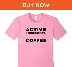 Mens Active Ingredients Coffee T-Shirt 2XL Pink - Food and drink shirts (*Amazon Partner-Link)