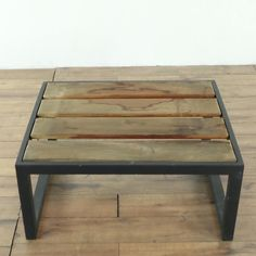 Montego Outdoor Ottoman Ipe Wood, Steel Frame, Ottoman, The Originals, Table, Room, San Francisco, Outdoor, Furniture
