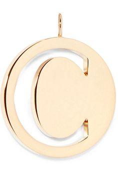 Chloé - Alphabet Gold-plated Wallet Charm - X