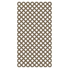 Barrette Brown Traditional Vinyl Lattice (common: 0.2-in X 4-ft X 8-ft; Actual…