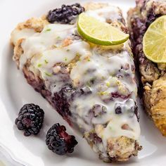 These Blackberry Lime Scones are breakfast perfection! Super easy too. link in my bio These Blackberry Lime Scones are breakfast perfection! Super easy too. link in my bio Ashley (BakerbyNature) Clotted Cream, Clean Eating Snacks, Baking Recipes, Scone Recipes, Beef Recipes, Recipies, Healthy Recipes, Breakfast Recipes, Diet Breakfast