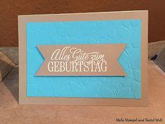Stampin Up, Geburtstagskarte, Birthday Card, Schmetterlingsschwarm, Butterfly, Schmetterling, Fähnchenstanze, dreifach einstellbar, Geburtstagsgruß für alle