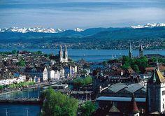 Zürich.jpg > Zürich and lake Zürich.