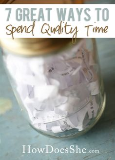 7 Great Ways to Spend Quality Time with Your Family! I especially love the printable dinner questions.