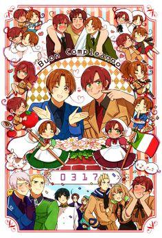 Italy Brothers Hetalia Romano and Italy