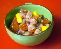 Tuna ceviche using Evil Genuis mead from B.Nektar and tuna from Joe's Meat and Seafood.