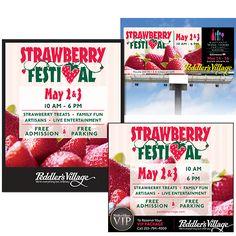 Peddler's Village Strawberry Festival Print and Web graphics
