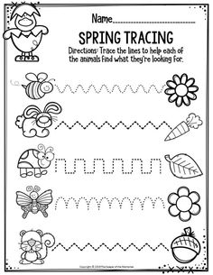 Check out these awesome spring printable preschool worksheets! You'll find both Math & Literacy activities that are quick & easy for your little kids! They're a fun, no prep way to get your preschoolers thinking! Preschool Writing, Fall Preschool, Preschool Themes, Preschool Learning, Teaching Art, Pre K Worksheets, Literacy Worksheets, Printable Preschool Worksheets, Math Literacy