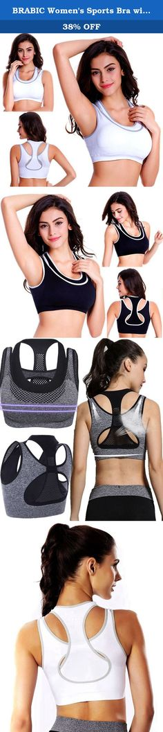 BRABIC Women's Sports Bra with Double Layer Padded High Impact Pack of 3 M. Sports Bra's Features: Racerback gives maximum freedom of movement Double Layer and Removeable Pads for convenience Sleek,stretchy fabric is wicking,breathable Lightweight,super soft,smooth,stretchy and super-breathable Pullover Style Machine washable Wide Shoulder Straps Why choose us ? We have over 10 years experience of manufacturing sport bra, so do not worry about the quality All the sport bras we using...