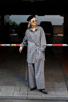 HAT | #ELLIOTI TOP | #JKOO BOTTOM | #JKOO SHOES | #YCH An Minyoung, Street Fashion 2017 in Seoul