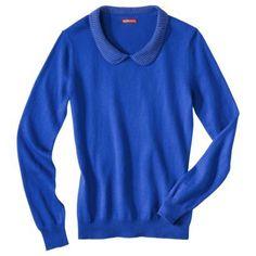 Merona® Women's Peter Pan Studded Collar Pullover Sweater - Assorted Colors