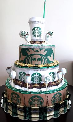 Starbucks Party - Fuzi Huli Starbucks Party - Fuzi Huli Best Picture For birthday cake for teens For Your Taste You are looking for something, and it is go Starbucks Cake Pops, Starbucks Caramel Frappuccino, Secret Starbucks Drinks, Birthday Cake With Photo, Cute Birthday Cakes, Birthday Cakes For Teens, 13th Birthday Parties, 14th Birthday, Birthday Ideas