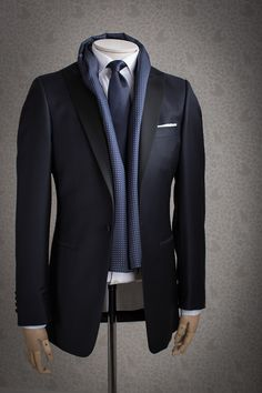 Men's Suit☆Suit Up SUITS ONLY! A nice scarf can enhance a suit besides keeping you warm.