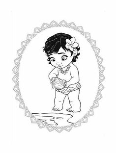 Princess Moana Portrait Coloring Page Free Printable Coloring