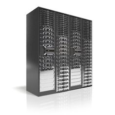 A huge server rack capable of processing anything we need! Already had two of our own Dell servers collocated before in some world-class datacenters!