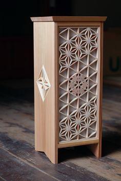 Wooden paper lantern