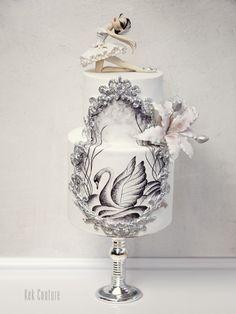 Ballerina Black Swan Cake ... PASTA