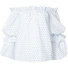 Caroline Constas off the shoulder top (746 CAD) ❤ liked on Polyvore featuring tops, white, flutter sleeve top, white polka dot blouse, polka dot blouse, flutter sleeve blouse and off-the-shoulder ruffle tops