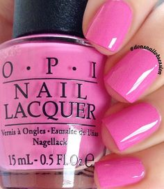 """opi """"Two-timing the Zones"""" a gorgeous pink nail shade from the OPI Fiji collection"""